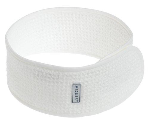 Aquis Terry Headband (White)