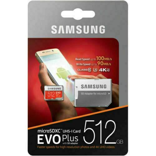 Samsung Evo Plus 512GB MicroSD XC 100MB/s UHS-I Speicherkarte für Samsung Galaxy Note 8 9 10 Plus + 5G mit USB 3.0 MemoryMarket Dual Slot MicroSD & SD Speicherkartenleser