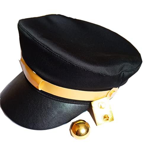 damdos Jojos Hats Baschi e Berretti JoJo's Bizarre Adventure Hat Jotaro Kujo Hat Visored Props Peaked Women Baseball Caps
