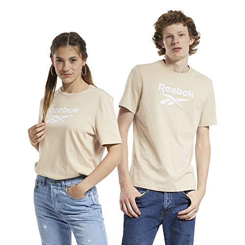 Reebok Cl F Vector Tee T-Shirt, Unisex, Erwachsene S Beige (Utibei)