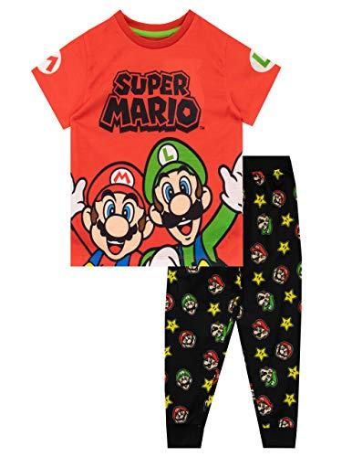 Super Mario Pijamas de Manga Corta para Niños Rojo 3-4 Años