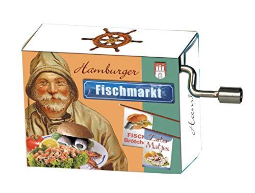 """Fridolin Spieluhr / Music Box """"An der Nordseeküste (Wild Rover)"""", Fischmarkt Hamburg"""