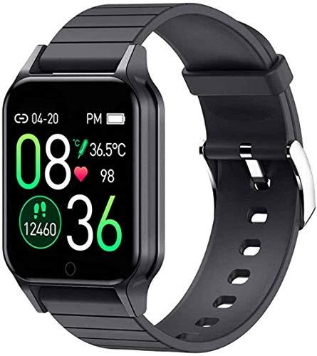 SNFHL el Último Reloj Inteligente Pantalla Táctil Completa 1.3 Pulgadas Función Recordatorio Mensaje, Podómetro Frecuencia Cardíaca Android E iOS, Rojo,Black