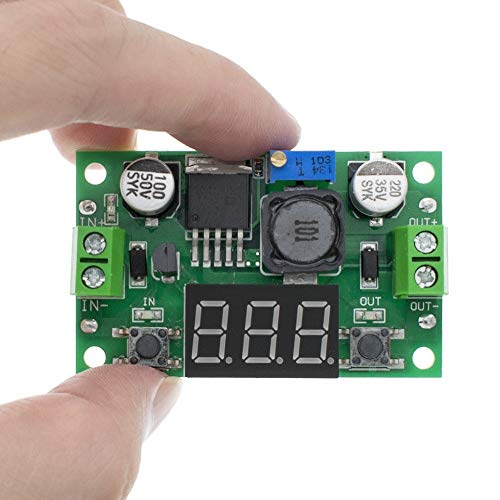 Módulo de fuente de alimentación 20pcs DC 4.0~40 for 1.3-37V ajustable Paso-Down módulo de alimentación + voltímetro LED Módulo ajustable
