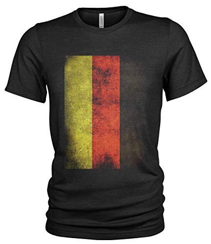 Deutschland Flagge I Patriot I Bundeswehr | Deutschland Grunge T-Shirt (XL)