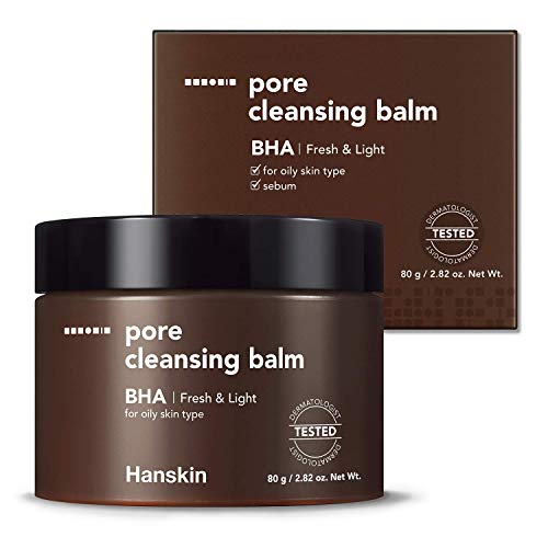 Hanskin BHA Pore Cleansing Balm, Gentle Blackhead Cleanser and Makeup Remover for Combination and Oily Skin [BHA/2.82 oz]