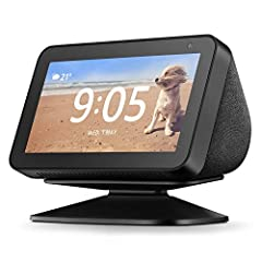 Easily tilt your Echo Show 5 forwards or backwards to improve viewing angle. Quick and secure magnetic attachment.