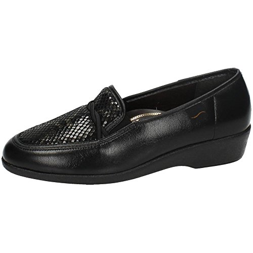 MADE IN SPAIN 67473 Mocasines Negros SEÑORA Zapatos MOCASÍN Negro 39