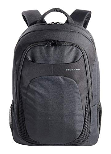 Tucano-Zaino da lavoro per Computer 15.6 Pollici.Backpack per Pc con Tasca per Laptop, MacBook, iPad e Tablet. Per Viaggio e Università. Fascia Trolley. Uomo e Donna