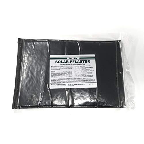Ber-Fix® Solar Pflaster (150 x 220mm) Das UV Härtende GFK - durch Sonne oder UV Lampen, GFK Reparatur