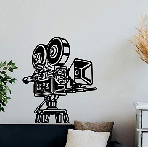 Retro Camera Muursticker Cinema Video Film Decor Vinyl Sticker Home Theater Wall Art House Studio Behang Muurschildering 42x49cm