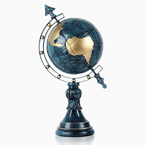 DLP Estatua de globo de estilo europeo, creativo, de resina, hecha a mano, para decoracin del hogar, 21,7 x 11 x 40 cm