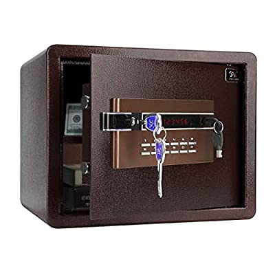 TIGERKING Security Safe with Digital Keypad Lock, Protect Cash Jewelry Passport Guns File
