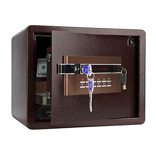 TIGERKING Security Safe Personal Safe Digital Keypad Lock Box Safe for Cash Money Jewelry Document Cabinet Safe 12 Cubic Feet