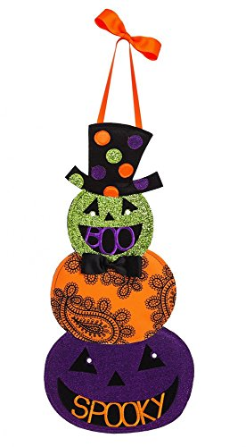 Evergreen Flag Spooky Lantern Outdoor Safe Felt Door Decor 23.5 x 11.25 x 0.5 Outdoor Decorations for Halloween Fall