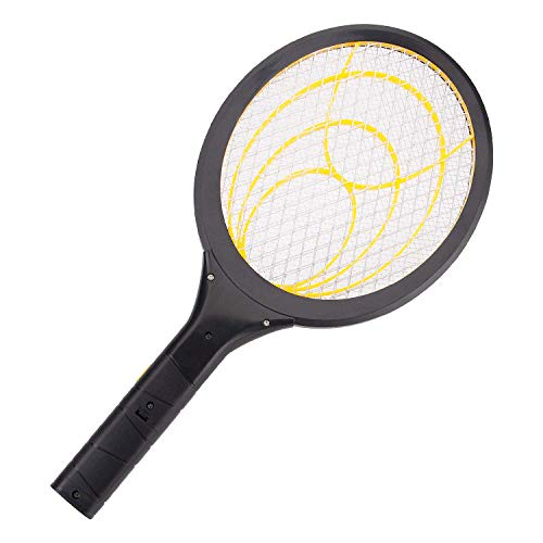 mafiti Electric Fly Swatter, Fly Killer Bug Zapper Racket for Indoor and Outdoor Pest Control, 2AA Batteries not Included (1-Pack Yellow)