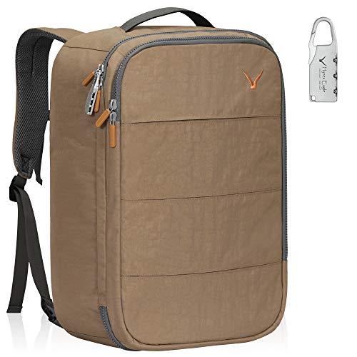 Hynes Eagle 36L Handgepäck-Rucksack mit RFID-blockierender Tasche, für Flugreisen, Reisegepäck, Wochenender, Kabinentasche., khaki (Beige) - HE0929-3
