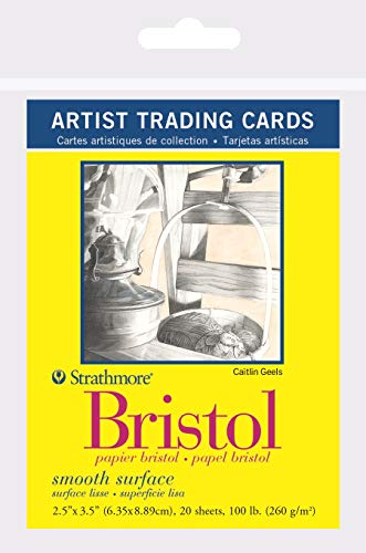 Strathmore 300 Series Bristol Artist Trading Cards, Smooth Surface, 20 Sheets