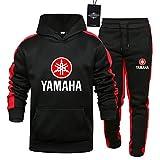 Herren und Damen Sportanzug Für Ya.Ma-Ha-s Zweiteilige Sweater Pants Stripe mit Kapuze Trainingsanzug Mantel SPONYBORTY/Schwarz/L
