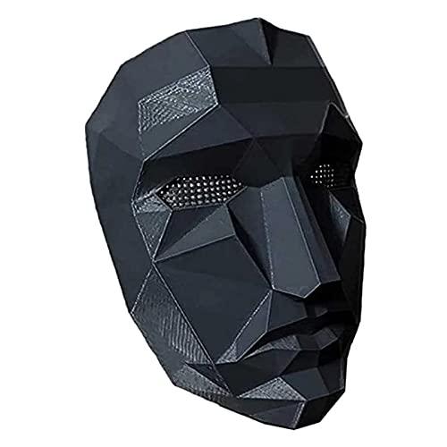 Máscara de juego de calamar, máscara de disfraz de calamar, máscara de administrador de miedo, accesorios de mascarada para Halloween, máscara de juegos de fiesta de Halloween (jefe)