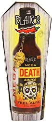 Blair's Mega Death Sauce comes with a golden skull keychain