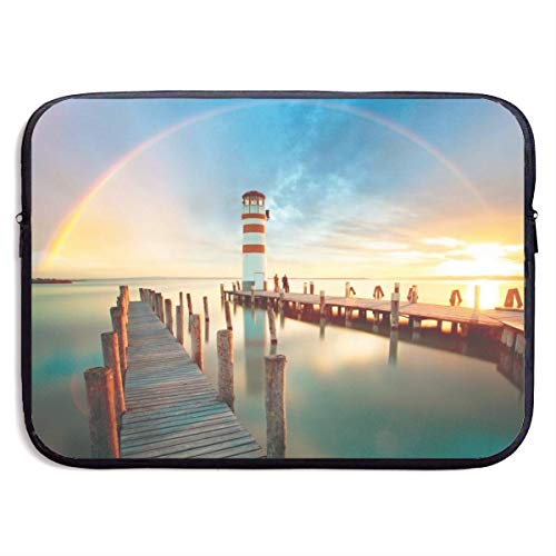Zome Lag Draagbare laptophoes, laptoptas, laptoptas, laptoptas, laptoptas, laptoptas, laptoptas, laptoptas, lake regenboog en bridge computer notebook tas, laptoptas S(13 Inch) 1364