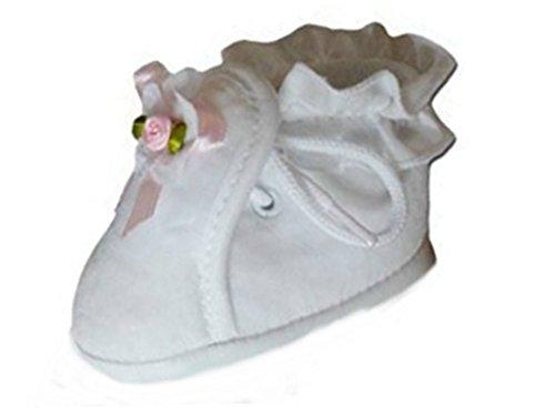 Ikumaal Festlicher Schuh Für Taufe Oder Hochzeit - Taufschuhe Für Baby, Babies, Mädchen, Jungen, Kinder, in Verschiedenen Größen 16-19, Tp11 Weiß, 17 EU
