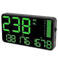 スピードメーターのHUDディスプレイ、過去のアラーム運転時間デジタル、車の時計走行距離の車のHUD