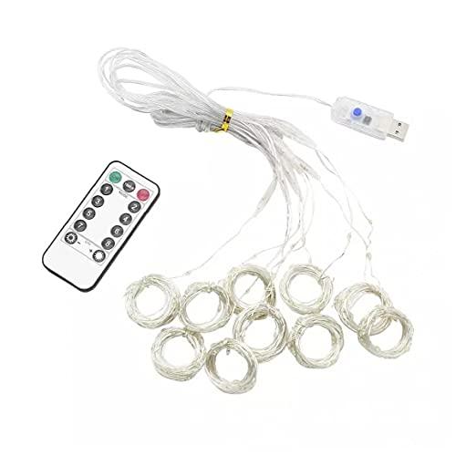 Secuencia del Led Led, Alimentación USB Cambio del Multicolor Luces De Cadena con Mando a Distancia, Luces Interiores De Alambre Decorativo para Dormitorio, Al Aire