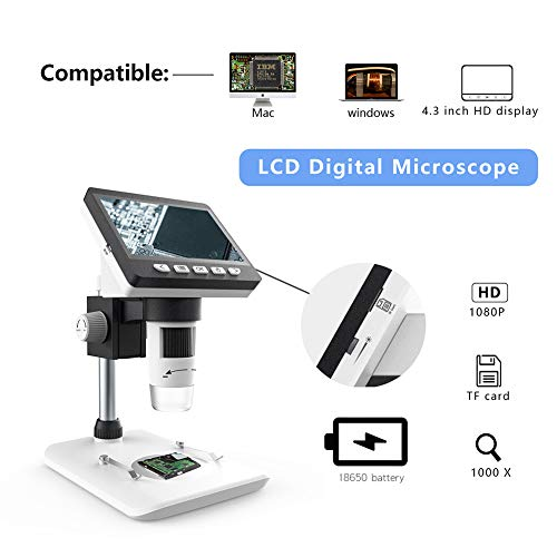 AimdonR 4,3 inch 8 LEDs USB digitale microscoop vergrootglas elektronische stereo doscoop camera