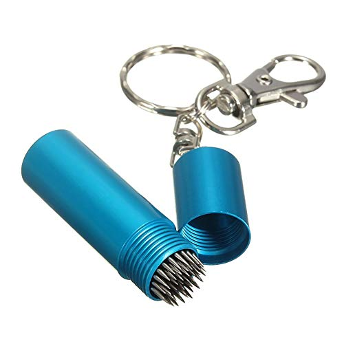 YTGOOD Billiard Cue Tip Shaper Pick Pricker Metal Repair Tool Thorn Tool Zwillingszubehör M blau