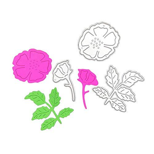 Flowers Leaves Die Cuts Stencil, Plant Metal Cutting Die Cutting Die Template Scrabooking Supplies for Invitation Card Making, Paper Crafting, Envelope, Emboosing, DIY Photo Album