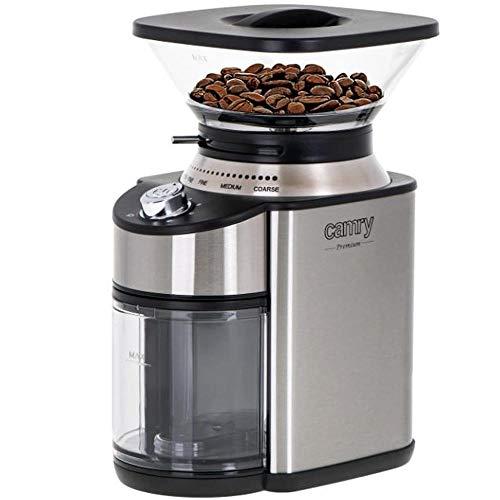 Bakaji Elektrische Kaffeemühle mit 16 Mahlfunktionen, Leistung 200 W für 12 Tassen mit konischem Behälter, Bohnenhalter, modernes Design, Haushaltsgeräte, Küchengeräte