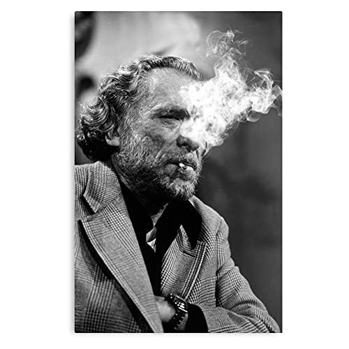 Generic Books and Vintage Book Smoke Cool White Charles Bukowski Black - Fine Art und Trendy für Dekor Wandposter