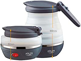 Adler AD1279 Elektrische waterkoker, opvouwbaar, 0,6 liter, 750 W, BPA-vrij, siliconen