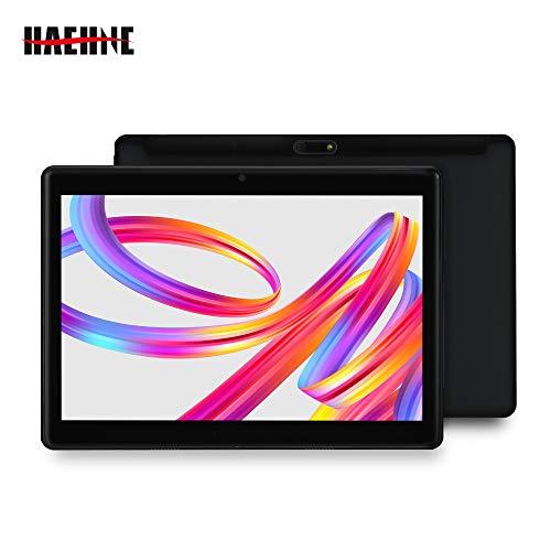 Haehne 10,1 Pulgadas Tablet, Google Android 4.4 gsm WCDMA 3G Phablet, HD 1280 * 800P Pantalla capacitiva, Quad Core 1.3GHz A7 1GB+16GB, Cámaras Duales 2.0MP+0.3MP, 4500mAh, WiFi, Negro