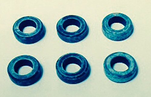 Genuine Mitsubishi Fuel Injector Lower Seal (Insulator) Kit MD087060 (6x) Fits Many V6 Engines 1990-2012 Eclipse Galant Endeavor Montero Sport Montero (Full Size) Diamante Pick Up