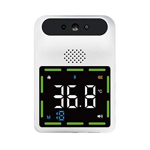 Montado En La Pared Del Cuerpo Del Termómetro, Termómetro Infrarrojo De Pared Sin Contacto De La Frente Digital De La Temperatura Fiebre Bluetooth Alarma 11 Idiomas