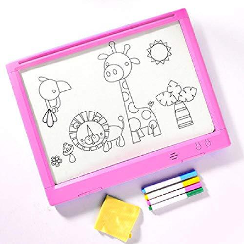 N\P Tablero de Dibujo 3D de Gran tamaño, Rompecabezas para niños, Tablero de Dibujo LED, Tablero de Dibujo Luminoso 3D, Rompecabezas de Juguete