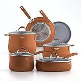 Batería de cocina Cooksmark de aluminio color cobre