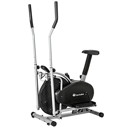 TecTake 2 in 1 Cyclette ELLITTICA Professionale Elliptical ERGOMETRO con Display LCD