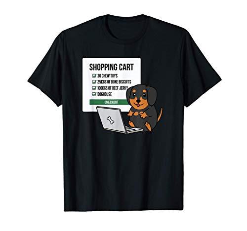 ショッピングカートダックスフント犬 Tシャツ