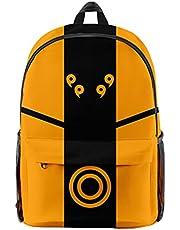 Mochila Anime Naruto, Grande Capacidad Uchiha Sasuke Itachi Akatsuki Anime Cosplay Naruto Mochila Escolar Estudiante Bolso de Escuela Laptop Backpack Mochila para Portátil Viajes-