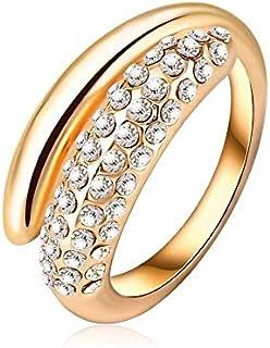 خاتم زفاف فاشن مطلي دهب حجم 8