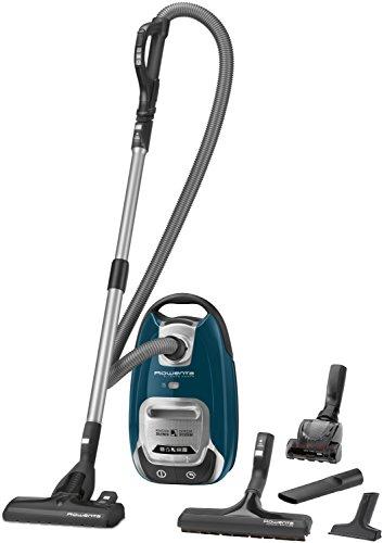 Rowenta RO6451EA - Aspiradora (750 W, A, 28 KWh, Aspiradora Cilíndrica, Bolsa Para El Polvo, Azul, Plata)