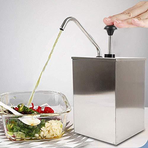 Hotpot - Dispensador de salsa (4 L, acero inoxidable)