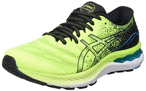 Asics Gel-Nimbus 23, Road Running Shoe Hombre, Hazard Green/Black, 44.5 EU