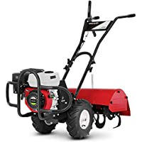 GREENCUT GTC220X - Motocultor de gasolina con motor de 4 tiempos 208cc 7cv con ancho de trabajo de 70cm y profundidad de 35cm en la Tierra