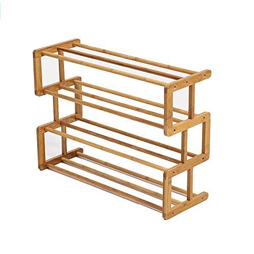 GENFALIN Zapatero de bambú Multi-Capa Simple economía de los hogares Combinación Zapato Gabinete 68 * 25 * 48 Cm