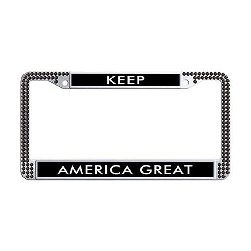 Framespolishisf Adventure Awaits License Plate Frame Holder Black Rhinestones Auto License Cover Holder